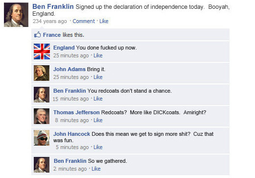 Funny Facebook status updates Ben-Franklin-FB